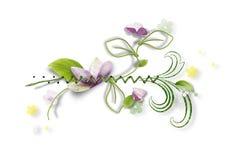 Decoratieve samenstelling met document bloemen royalty-vrije illustratie
