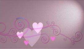Decoratieve samenstelling van harten Stock Foto's