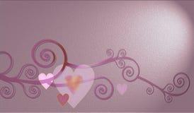Decoratieve samenstelling van harten Royalty-vrije Stock Foto