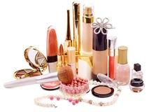 Decoratieve schoonheidsmiddelen voor make-up. Stock Foto
