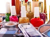 Decoratieve schoonheidsmiddelen voor make-up. Stock Fotografie