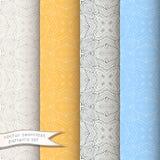 Decoratieve sier naadloze geplaatste patronen Stock Foto