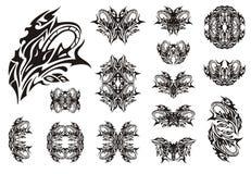 Decoratieve slangsymbolen Stock Foto's