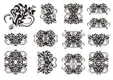 Decoratieve slangsymbolen in stammenstijl Royalty-vrije Stock Afbeelding