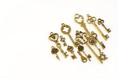 Decoratieve sleutels van verschillende grootte, gestileerde antiquiteit stock foto's
