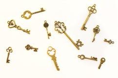 Decoratieve sleutels van verschillende grootte, gestileerde antiquiteit royalty-vrije stock foto's