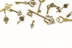 Decoratieve sleutels van verschillende grootte, gestileerde antiquiteit royalty-vrije stock foto