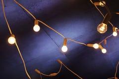 Decoratieve slingerlichten Stock Foto