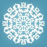 Decoratieve sneeuwvlok, het ornament van het Kerstmiskant Stock Afbeelding