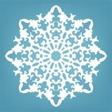 Decoratieve sneeuwvlok, het ornament van het Kerstmiskant Stock Afbeeldingen