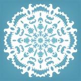 Decoratieve sneeuwvlok, het ornament van het Kerstmiskant Royalty-vrije Stock Afbeeldingen