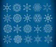 Decoratieve sneeuwvlokken Stock Foto's