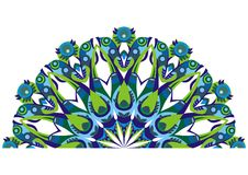 Decoratieve staartpauwen Stock Afbeeldingen