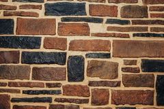 Decoratieve steenmuur Royalty-vrije Stock Afbeelding