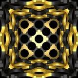 Decoratieve structurele ontwerpachtergronden 3D Illustratie Stock Fotografie