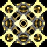 Decoratieve structurele ontwerpachtergronden 3D Illustratie Stock Foto's