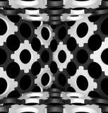Decoratieve structurele ontwerpachtergronden 3D Illustratie Stock Foto