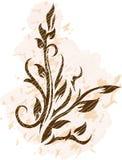 Decoratieve tak op grungeachtergrond Royalty-vrije Stock Afbeeldingen