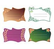 Decoratieve tekstkaders Stock Afbeeldingen