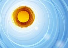 Decoratieve textuur van een gestileerde zon Royalty-vrije Stock Afbeeldingen