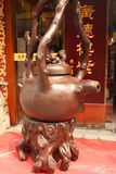 Decoratieve theepot bij de winkel van de Thee in Peking stock foto's