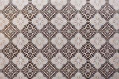Decoratieve, traditionele, bruine Portugese tegels Royalty-vrije Stock Afbeeldingen