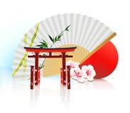 Decoratieve Traditionele Japanse achtergrond Stock Foto