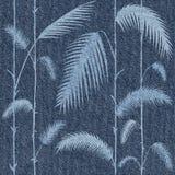Decoratieve tropische botanische bladeren - Binnenlands behang royalty-vrije illustratie