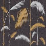 Decoratieve tropische botanische bladeren - Binnenlands behang - leertextuur stock illustratie