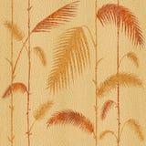 Decoratieve tropische botanische bladeren - Binnenlands behang - naadloze achtergrond royalty-vrije illustratie