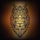 Decoratieve Uil Etnisch patroon Stock Afbeelding