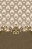 Decoratieve uitstekende achtergrond met elegante grens royalty-vrije illustratie