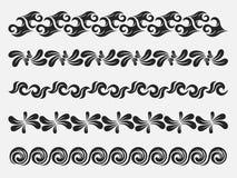 Decoratieve uitstekende elementen Stock Afbeeldingen