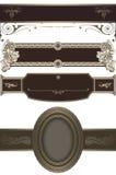 Decoratieve uitstekende grenzeninzameling Royalty-vrije Stock Fotografie