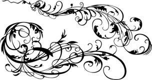 Decoratieve Uitstekende Overladen Krommen. Stock Afbeeldingen