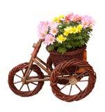 Decoratieve vaas met bloemen Stock Foto