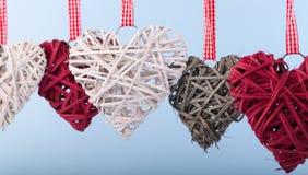 Decoratieve valentijnskaartharten Royalty-vrije Stock Fotografie