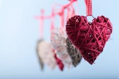 Decoratieve valentijnskaartharten Stock Fotografie