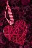 Decoratieve valentijnskaartharten Stock Afbeeldingen