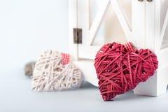 Decoratieve valentijnskaartharten Royalty-vrije Stock Afbeeldingen