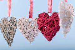 Decoratieve valentijnskaartharten Royalty-vrije Stock Foto's