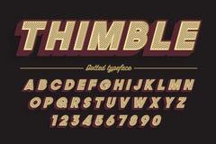 Decoratieve vector uitstekende retro lettersoort, doopvont, lettersoort Royalty-vrije Stock Afbeeldingen