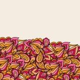 Decoratieve vectorelementengrens Het ontwerp van de malplaatjegolf Stock Fotografie