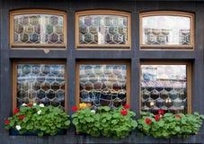 Decoratieve vensters Stock Foto's