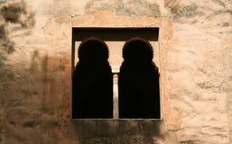 Decoratieve vensters in het paleis van Alhambra Stock Afbeelding