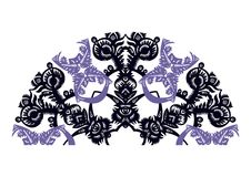 Decoratieve ventilator Royalty-vrije Stock Afbeeldingen