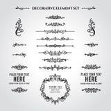 Decoratieve Verdeler en Kaderelementenreeks royalty-vrije illustratie