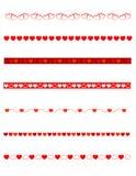 Decoratieve verdelers - Valentijnskaart Stock Afbeeldingen