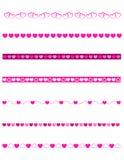 Decoratieve verdelers - Valentijnskaart stock illustratie