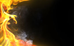 Decoratieve vlam royalty-vrije illustratie